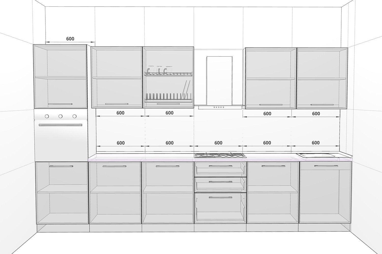 Размеры Готовая кухня Ника Ирпень Буча. Модульный кухонный гарнитур Ирпень Буча Киев. Купить мебель на кухню, магазин мебельной мастерской SETTER